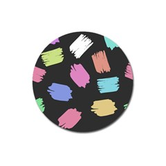Many Colors Pattern Seamless Magnet 3  (Round)