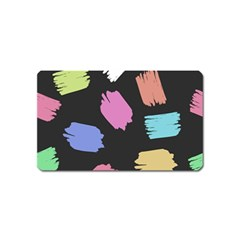 Many Colors Pattern Seamless Magnet (name Card)