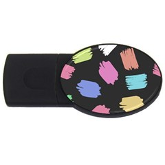 Many Colors Pattern Seamless Usb Flash Drive Oval (2 Gb)