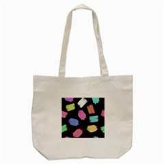 Many Colors Pattern Seamless Tote Bag (Cream)