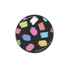 Many Colors Pattern Seamless Hat Clip Ball Marker (4 pack)