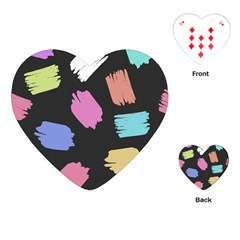 Many Colors Pattern Seamless Playing Cards (heart)