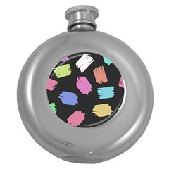 Many Colors Pattern Seamless Round Hip Flask (5 Oz)