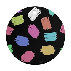 Many Colors Pattern Seamless Round Ornament (two Sides)