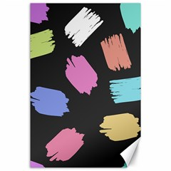 Many Colors Pattern Seamless Canvas 24  x 36