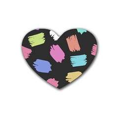 Many Colors Pattern Seamless Heart Coaster (4 pack)