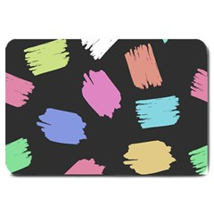 Many Colors Pattern Seamless Large Doormat