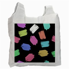 Many Colors Pattern Seamless Recycle Bag (one Side)