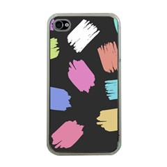 Many Colors Pattern Seamless Apple iPhone 4 Case (Clear)