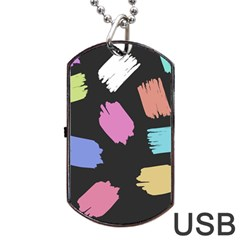 Many Colors Pattern Seamless Dog Tag Usb Flash (two Sides)