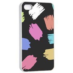 Many Colors Pattern Seamless Apple Iphone 4/4s Seamless Case (white)