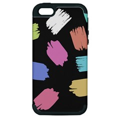 Many Colors Pattern Seamless Apple Iphone 5 Hardshell Case (pc+silicone)