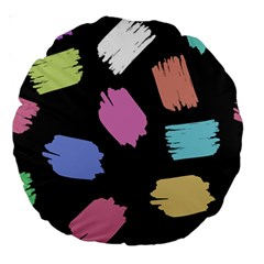 Many Colors Pattern Seamless Large 18  Premium Round Cushions