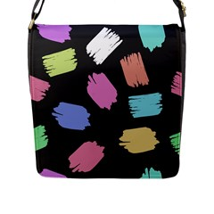 Many Colors Pattern Seamless Flap Messenger Bag (l)