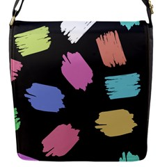 Many Colors Pattern Seamless Flap Messenger Bag (S)