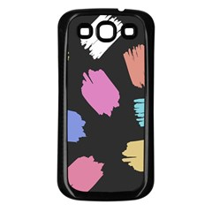 Many Colors Pattern Seamless Samsung Galaxy S3 Back Case (Black)