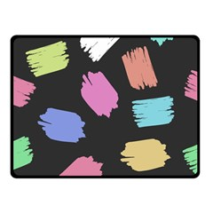 Many Colors Pattern Seamless Double Sided Fleece Blanket (small)