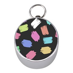 Many Colors Pattern Seamless Mini Silver Compasses