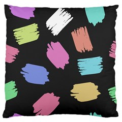 Many Colors Pattern Seamless Large Flano Cushion Case (Two Sides)