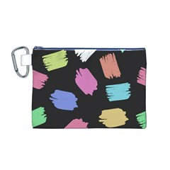 Many Colors Pattern Seamless Canvas Cosmetic Bag (M)