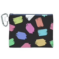 Many Colors Pattern Seamless Canvas Cosmetic Bag (xl)