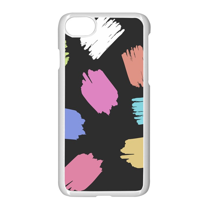 Many Colors Pattern Seamless Apple iPhone 7 Seamless Case (White)