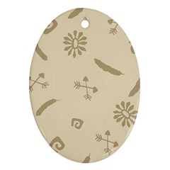 Pattern Culture Seamless American Ornament (Oval)