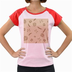 Pattern Culture Seamless American Women s Cap Sleeve T-Shirt