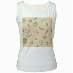 Pattern Culture Seamless American Women s White Tank Top