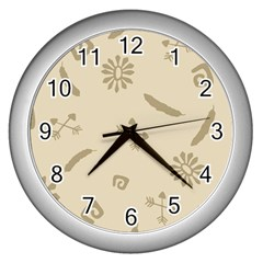Pattern Culture Seamless American Wall Clocks (Silver)
