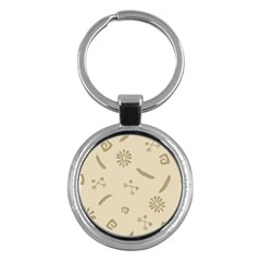 Pattern Culture Seamless American Key Chains (round)