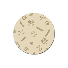 Pattern Culture Seamless American Magnet 3  (round)