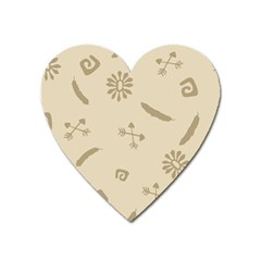 Pattern Culture Seamless American Heart Magnet