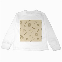 Pattern Culture Seamless American Kids Long Sleeve T-Shirts