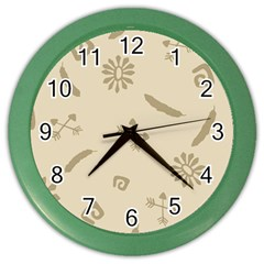 Pattern Culture Seamless American Color Wall Clocks