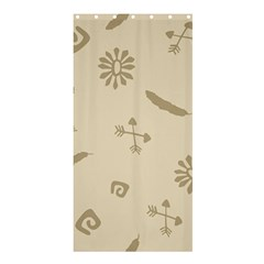 Pattern Culture Seamless American Shower Curtain 36  x 72  (Stall)