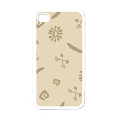 Pattern Culture Seamless American Apple iPhone 4 Case (White)