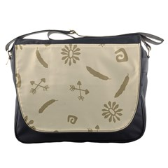 Pattern Culture Seamless American Messenger Bags