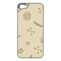 Pattern Culture Seamless American Apple Iphone 5 Case (silver)