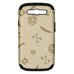 Pattern Culture Seamless American Samsung Galaxy S III Hardshell Case (PC+Silicone)