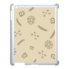 Pattern Culture Seamless American Apple Ipad 3/4 Case (white)