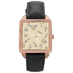 Pattern Culture Seamless American Rose Gold Leather Watch