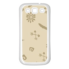 Pattern Culture Seamless American Samsung Galaxy S3 Back Case (White)