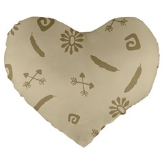 Pattern Culture Seamless American Large 19  Premium Flano Heart Shape Cushions