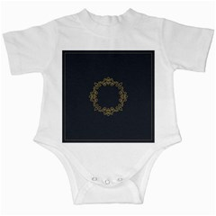 Monogram Vector Logo Round Infant Creepers