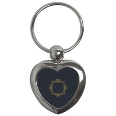 Monogram Vector Logo Round Key Chains (heart)