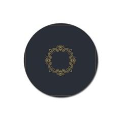 Monogram Vector Logo Round Magnet 3  (round)
