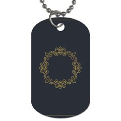 Monogram Vector Logo Round Dog Tag (one Side)