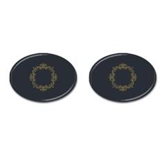 Monogram Vector Logo Round Cufflinks (Oval)