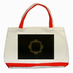 Monogram Vector Logo Round Classic Tote Bag (Red)